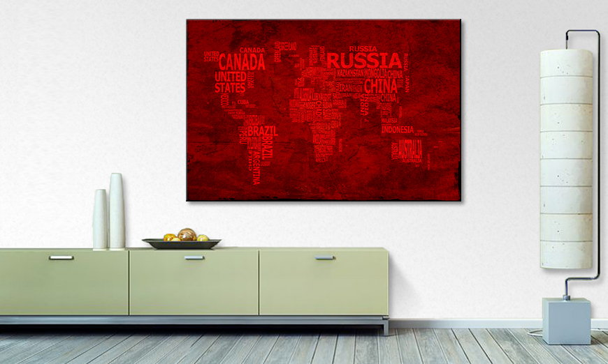 The modern art print Worldmap 18