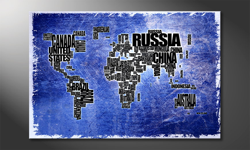 The modern art print Worldmap 2