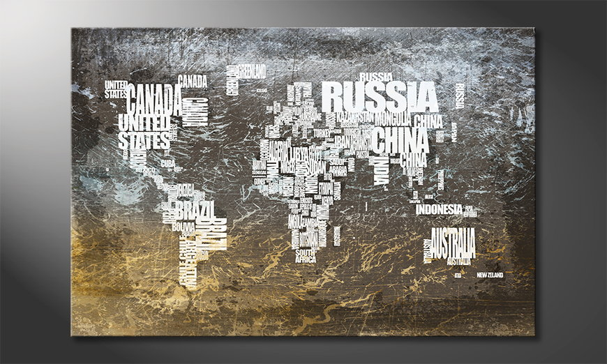 The modern art print Worldmap 20