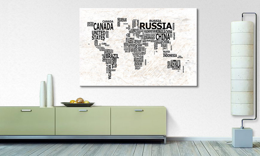 The modern art print Worldmap 21