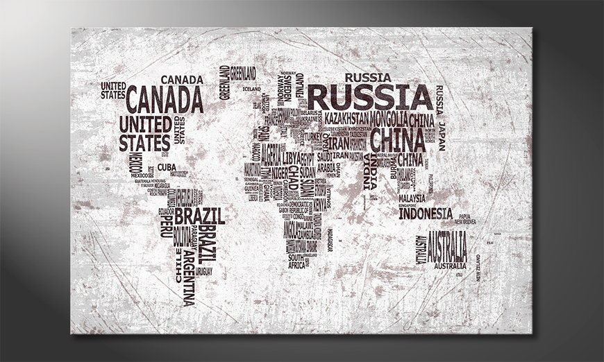 The modern art print Worldmap 22