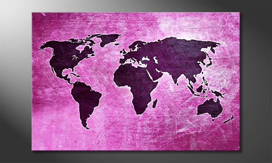 The modern art print Worldmap 4