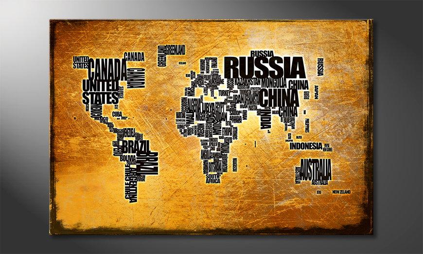 The modern art print Worldmap 6