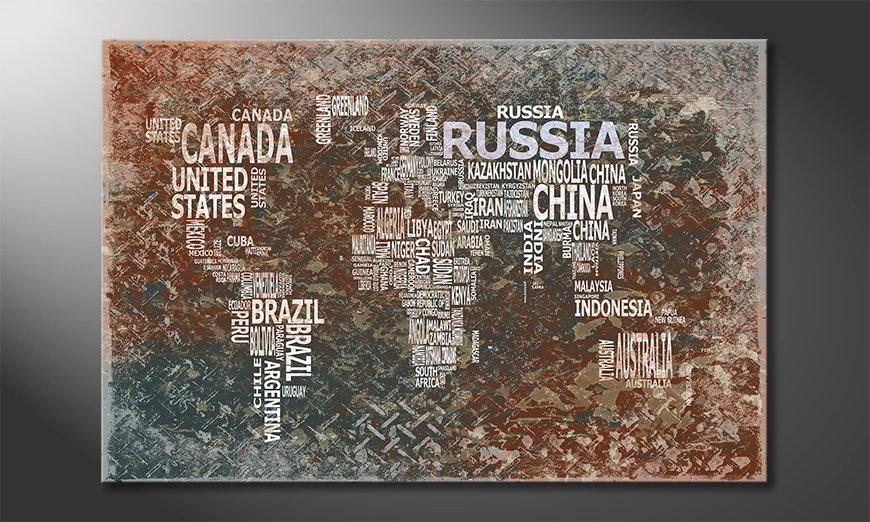 The modern art print Worldmap 8