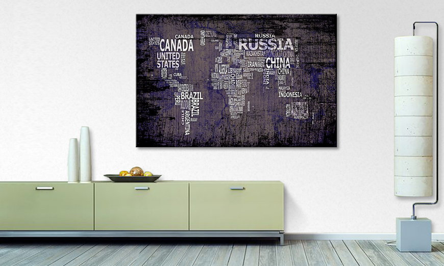The modern art print Worldmap 9