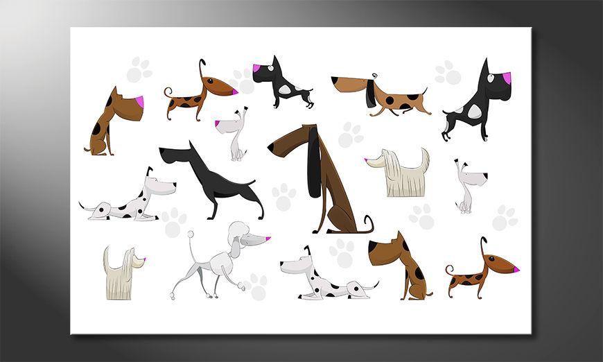 The print Cartoon Dogs
