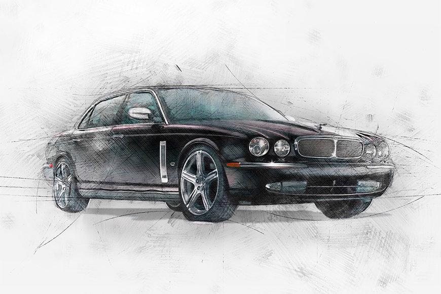 Photo-wallpaper Black Jag
