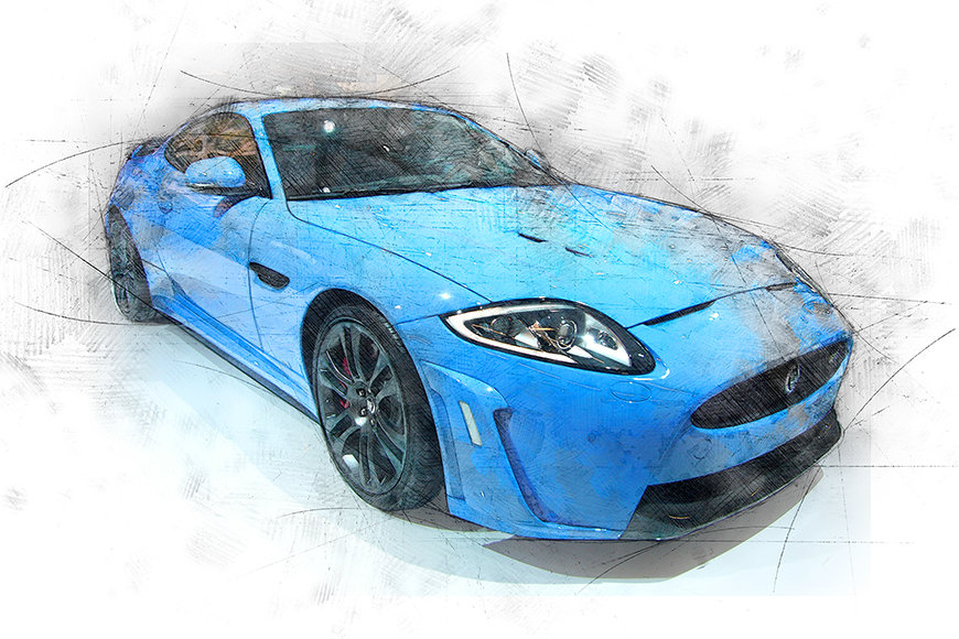 Photo-wallpaper Blue Jag