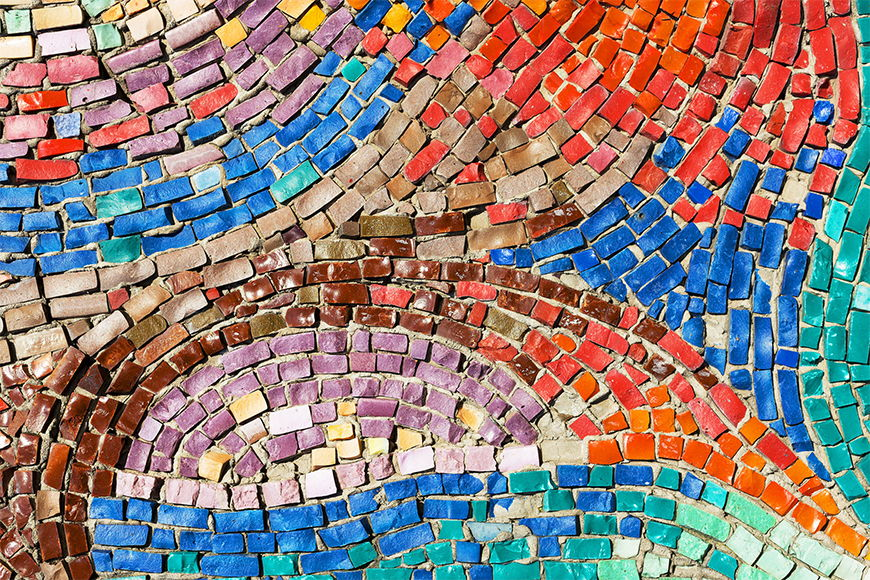 Photo-wallpaper Colourful pattern from 120x80cm