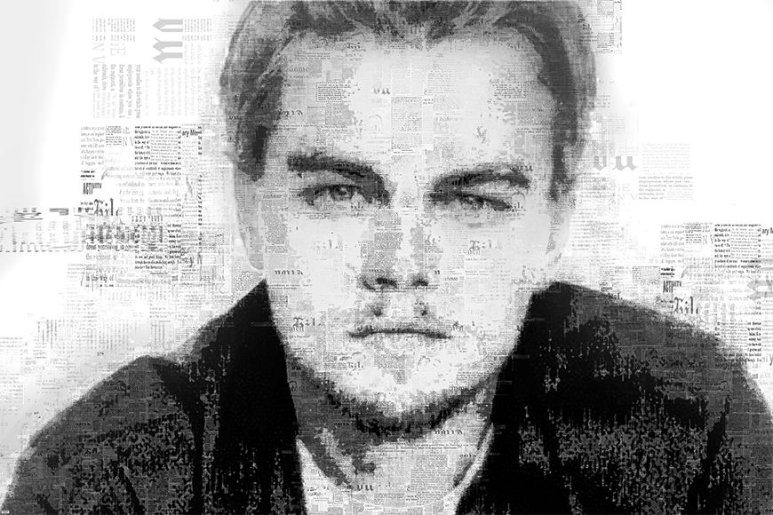 Photo-wallpaper DiCaprio from 120x80cm