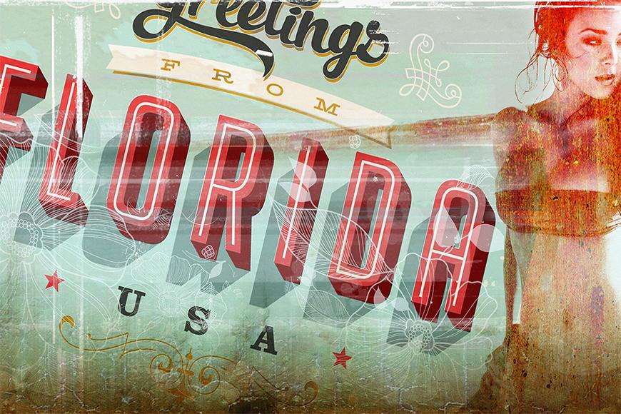 Photo-wallpaper Florida girl from 120x80cm