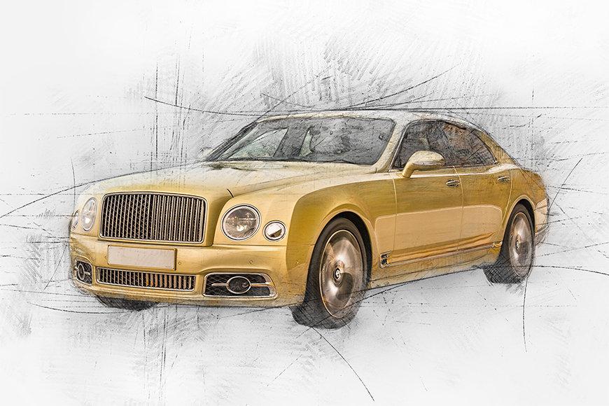 Photo-wallpaper Golden Elegance