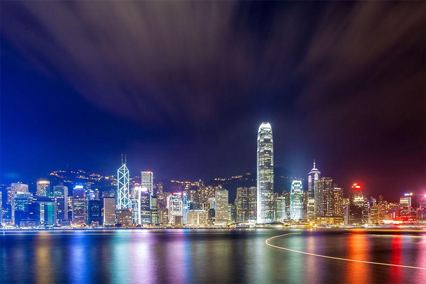 Photo-wallpaper Hongkong at Night in 6 Größen