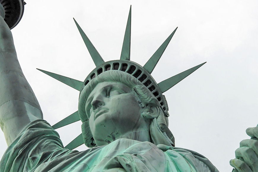 Photo wallpaper Liberty from 120x80cm