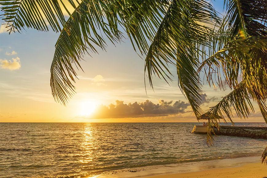 Photo-wallpaper Maldive sunset in 6 Größen
