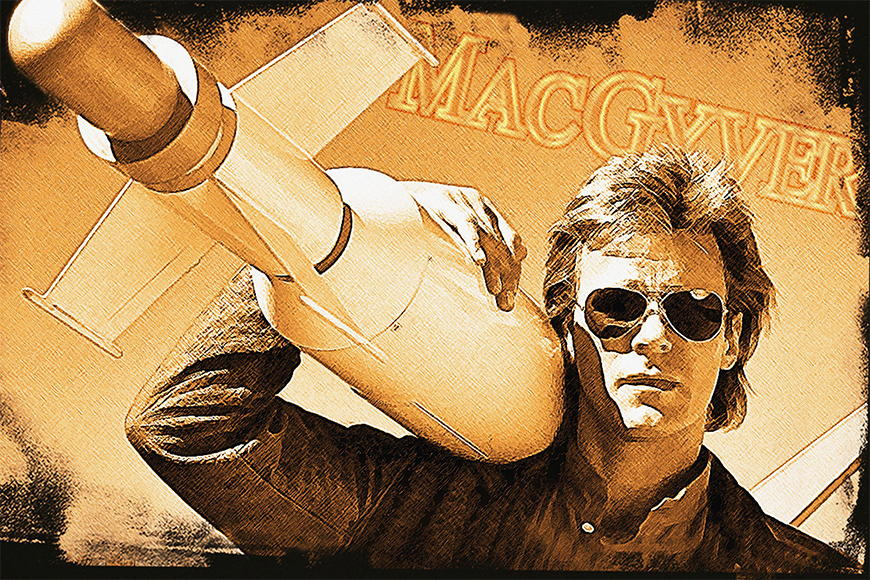 Photo wallpaper Mc Gyver from 120x80cm
