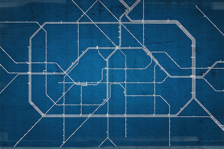 Photo-wallpaper Metro Berlin from 120x80cm