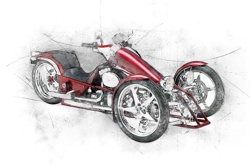 Photo-wallpaper Motocycle Five