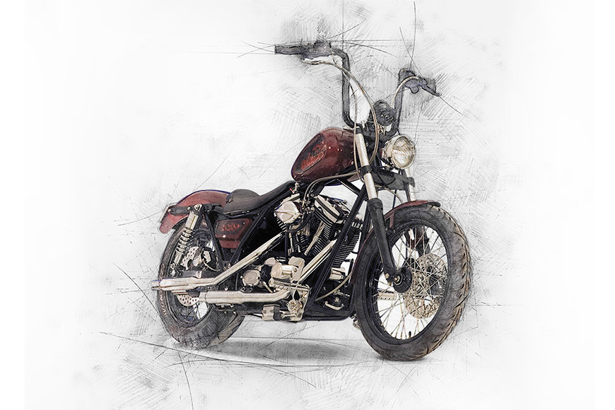 Photo wallpaper Motorbike