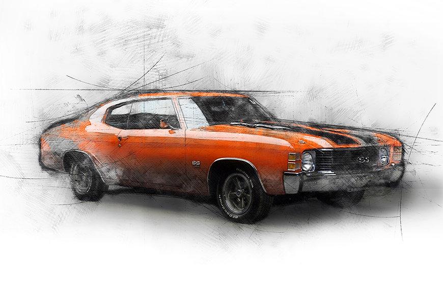 Photo-wallpaper Muscle Car