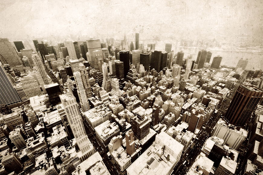 Photo-wallpaper Old New York from 120x80cm