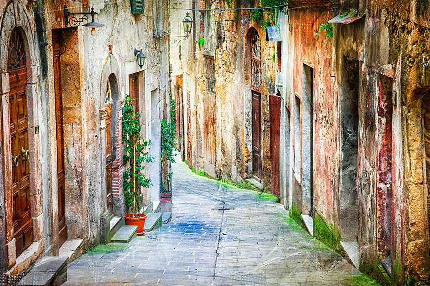 Photo-wallpaper Picturesque alley from 120x80cm