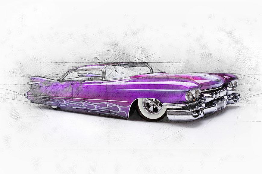 Photo-wallpaper Pink Cadillac