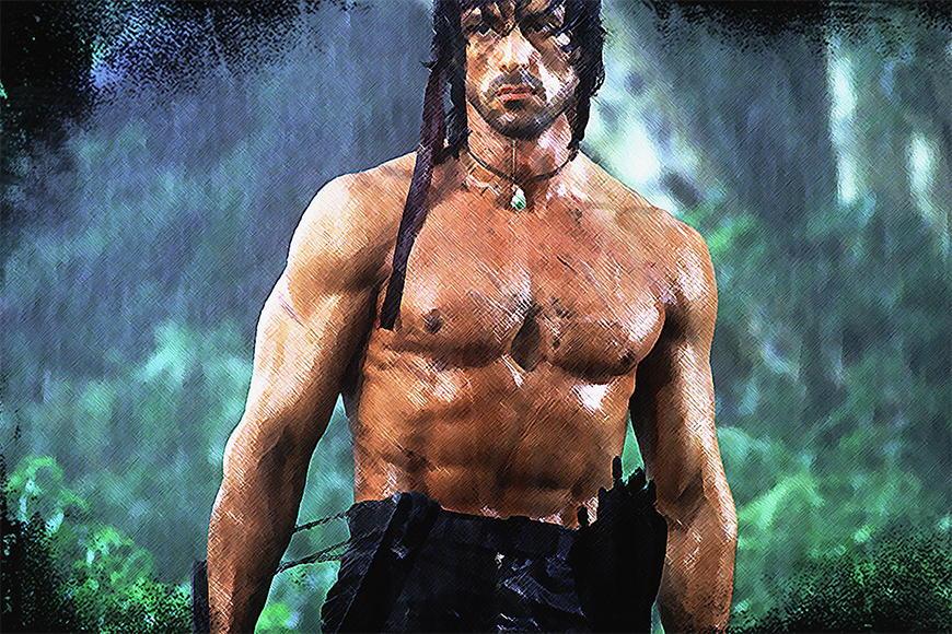 Photo-wallpaper Rambo from 120x80cm