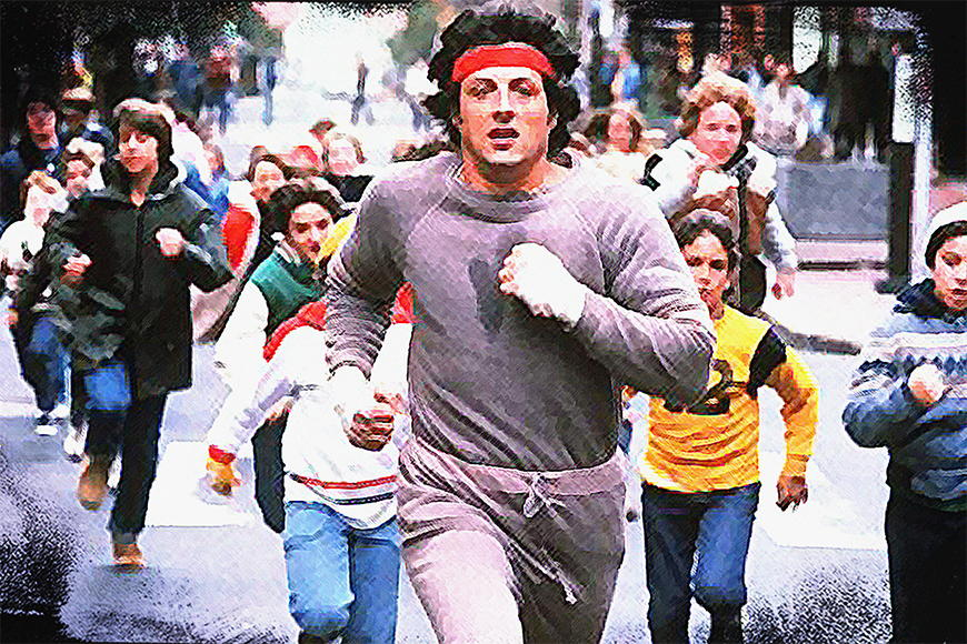 Photo wallpaper Run Rocky Run from 120x80cm