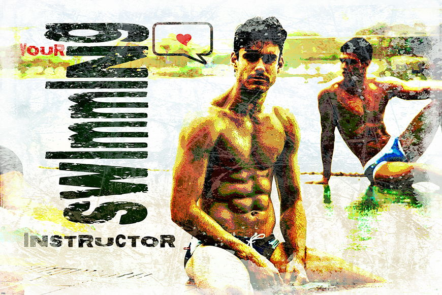 Photo-wallpaper Swimming Instructor from 120x80cm