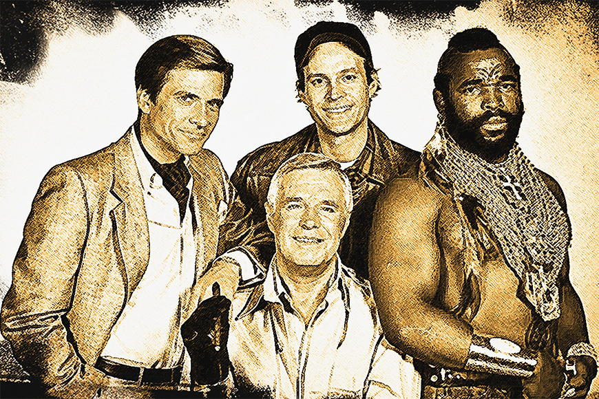 Photo-wallpaper The A-Team from 120x80cm