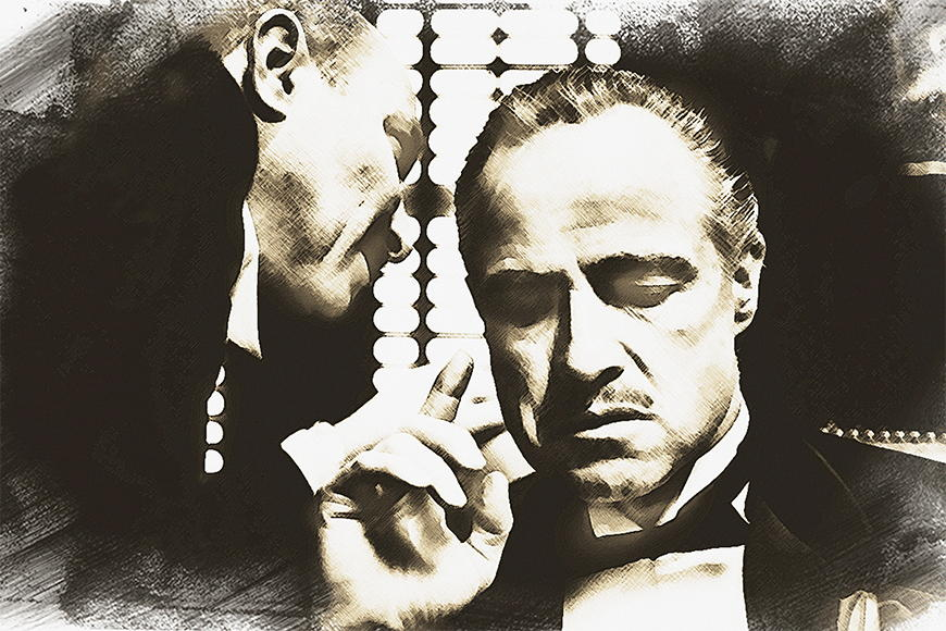 Photo wallpaper The godfather from 120x80cm