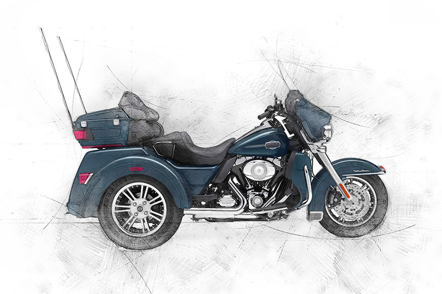 Photo wallpaper Trike
