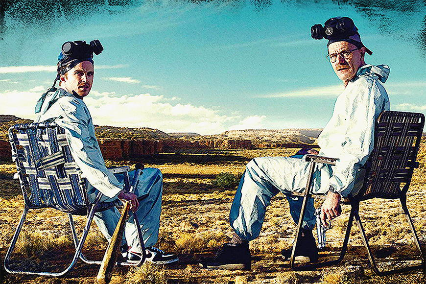 Photo-wallpaper Walter and Jesse from 120x80cm