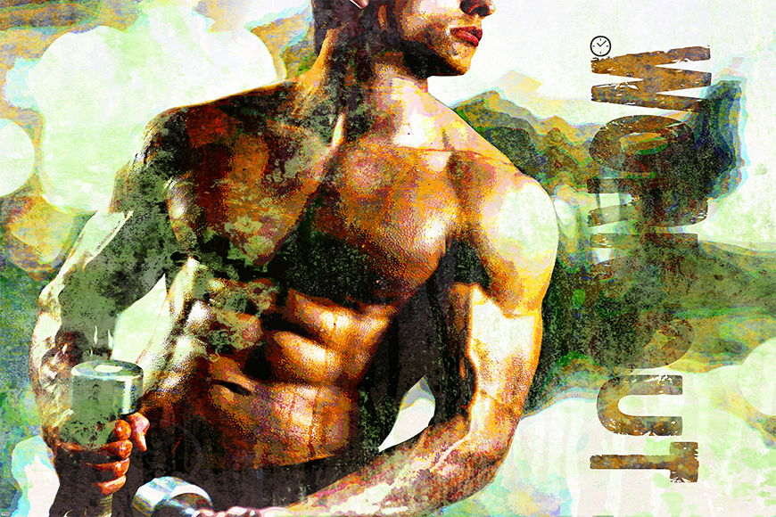 Photo-wallpaper Workout from 120x80cm