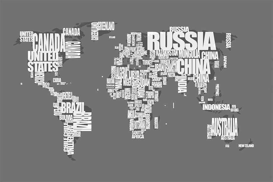 Photo wallpaper Worldmap 11 from 120x80cm