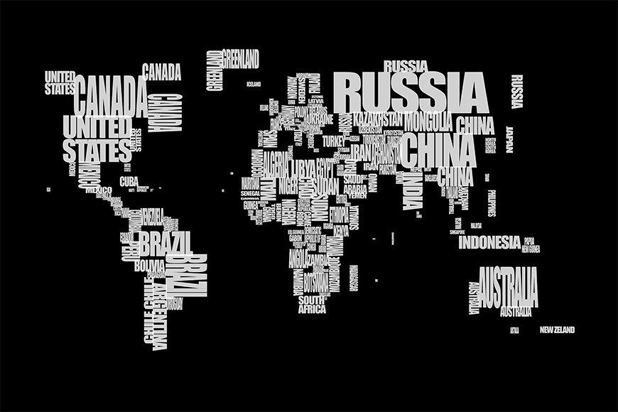 Photo-wallpaper Worldmap 14 from 120x80cm