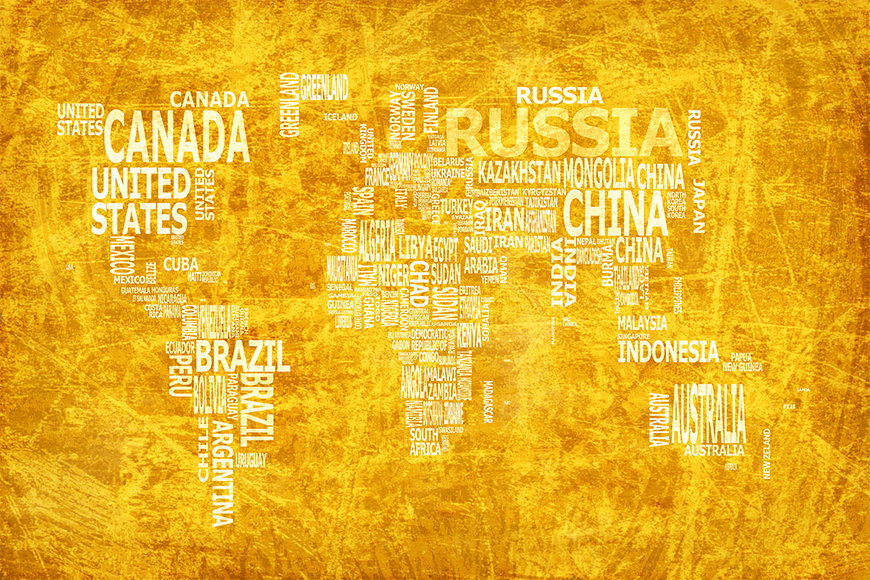 Photo wallpaper Worldmap 15 from 120x80cm