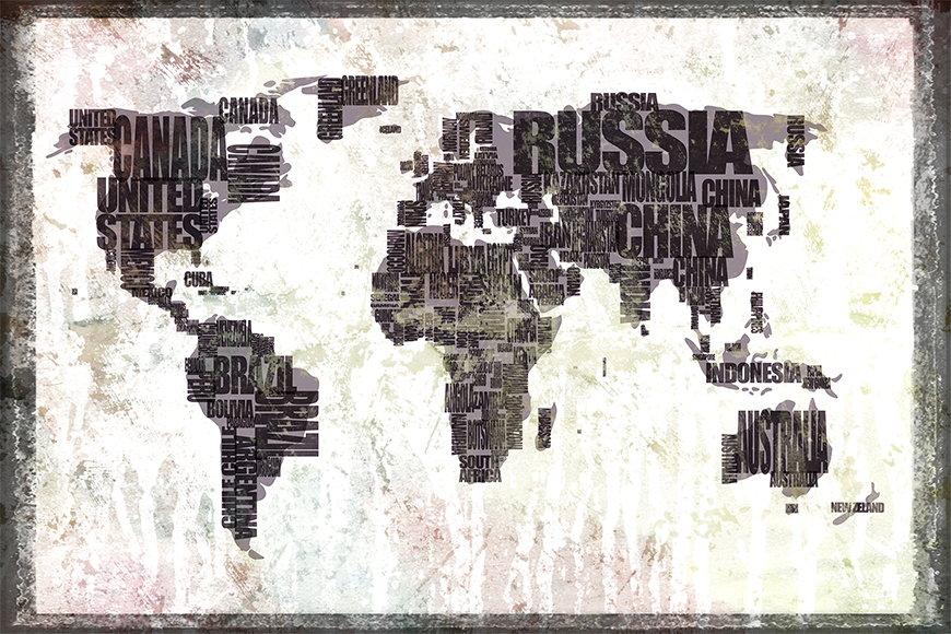 Photo-wallpaper Worldmap 17 from 120x80cm
