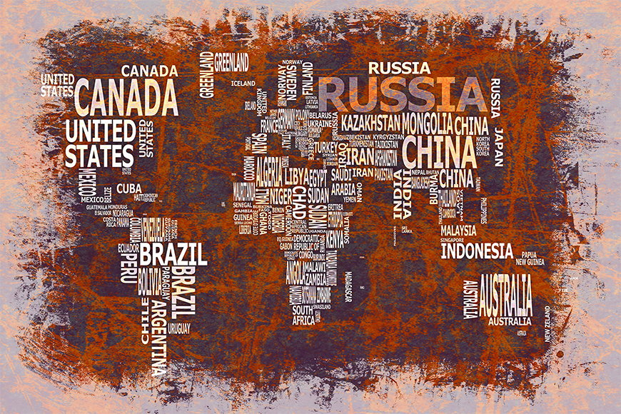 Photo-wallpaper Worldmap 19 from 120x80cm