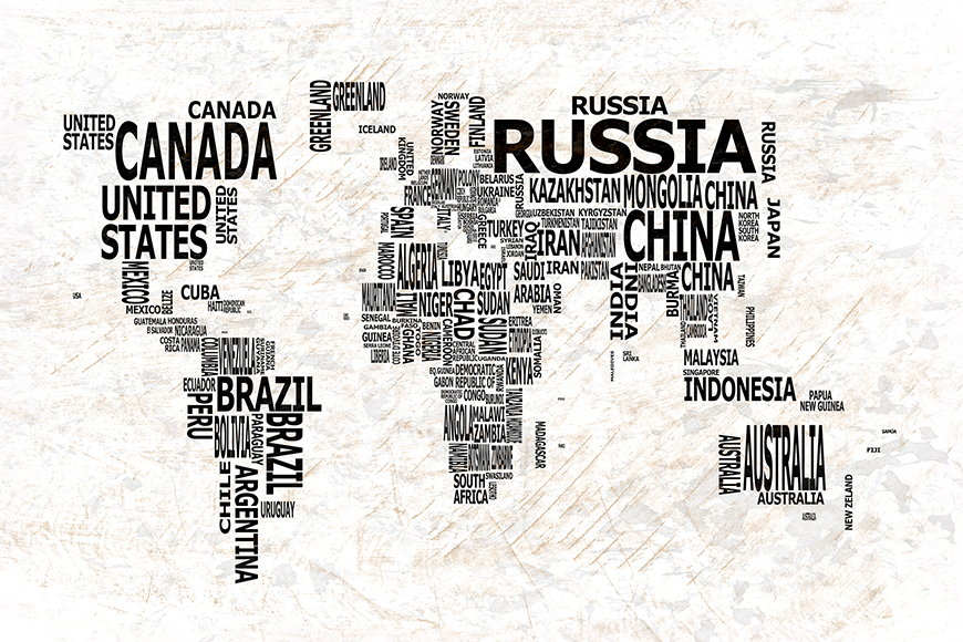Photo-wallpaper Worldmap 21 from 120x80cm