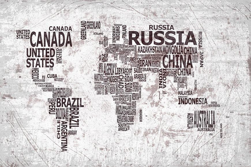 Photo-wallpaper Worldmap 22 from 120x80cm