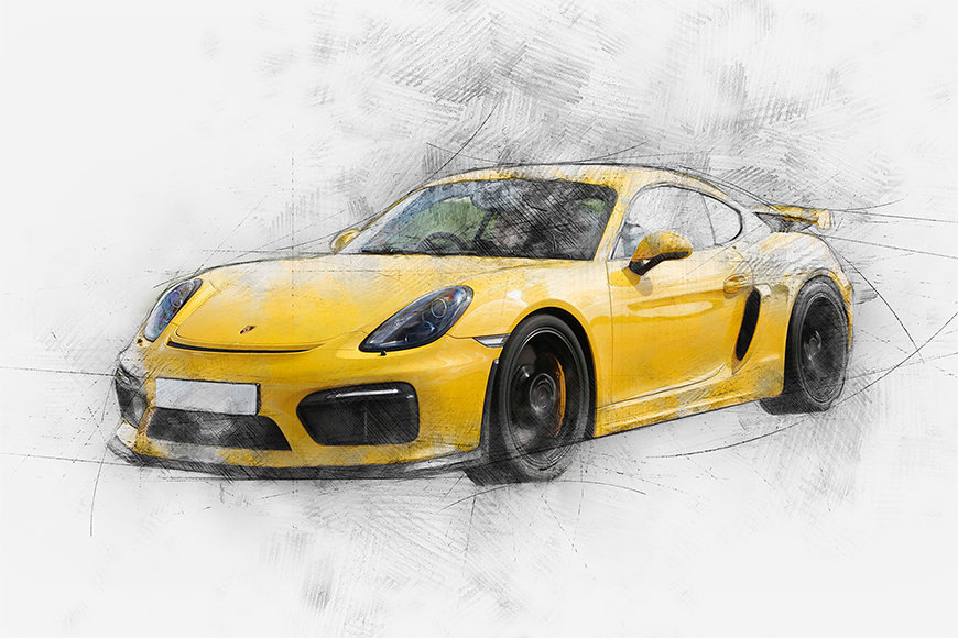 Photo wallpaper Yellow Power