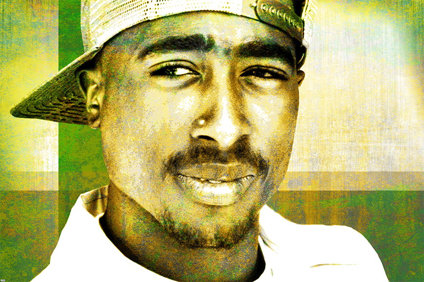 Wallpaper 2Pac from 120x80cm