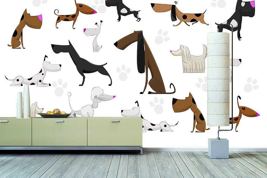 Wallpaper Cartoon Dogs