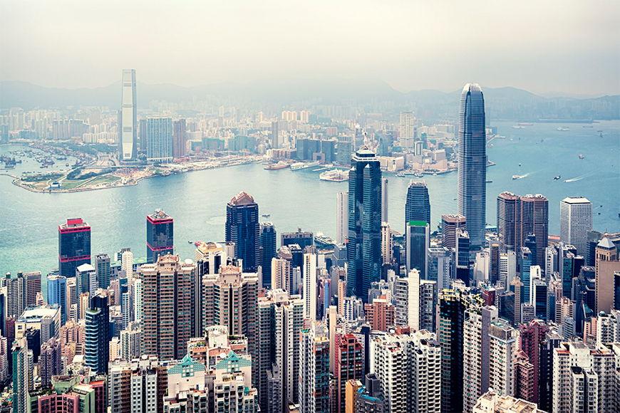 Wallpaper Hongkong Skyline from 120x80cm