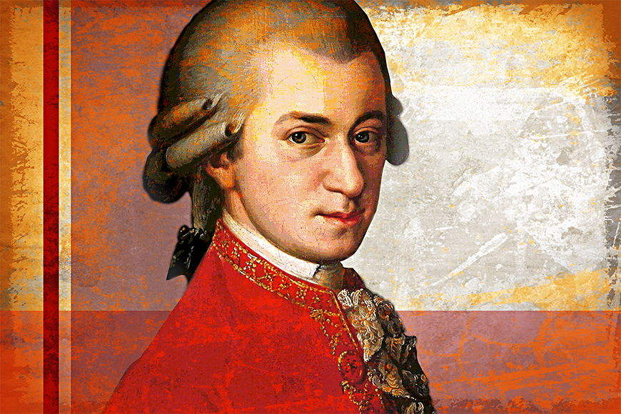Wallpaper Mozart from 120x80cm