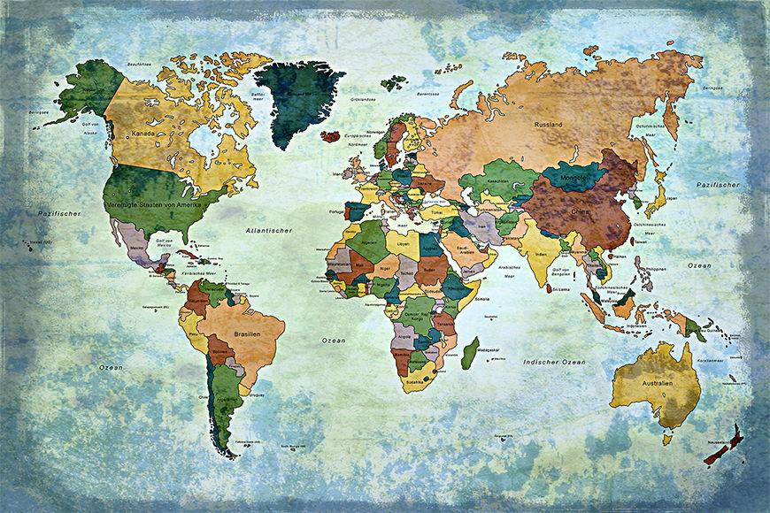 Wallpaper Old Worldmap 1 from 120x80cm