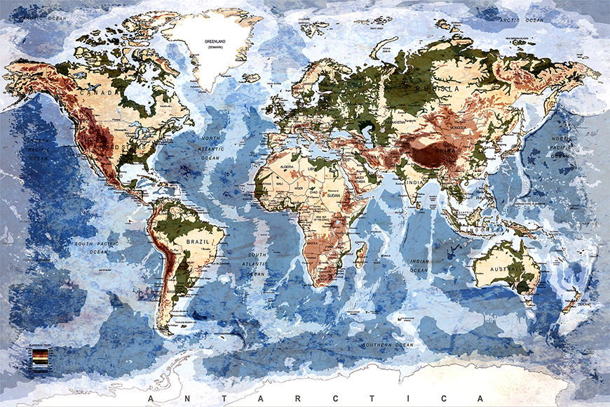 Wallpaper Old Worldmap 5 from 120x80cm