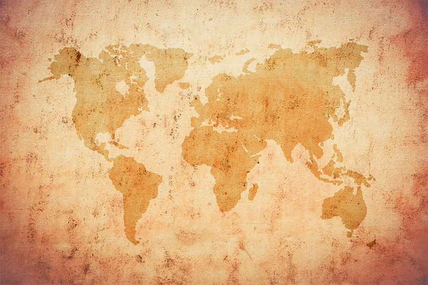 Wallpaper World map from 120x80cm